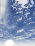 Lue sky with clouds background Royalty Free Stock Photo
