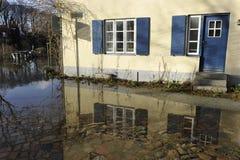 Luebeck, alta acqua Fotografie Stock