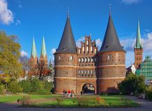 Luebeck Gate Stock Photo