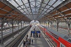 Luebeck Hauptbahnhof central järnvägsstation royaltyfria foton