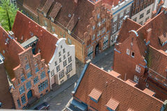 Luebeck houses top view Stock Images