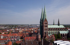 Luebeck Marien-Church Stock Photo