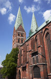 Luebeck Marien-Church Royalty Free Stock Images