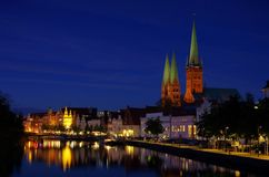 Luebeck by night Stock Photo