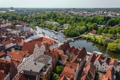 Luebeck overview Royalty Free Stock Image