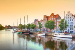 Luebeck at the river trave Royalty Free Stock Photo