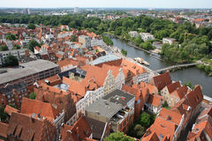 Luebeck roofs Stock Image