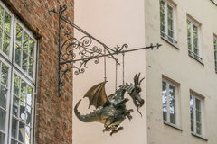 Luebeck, Schleswig-Holstein, Germany, August 15 2016, Puppet theater in luebeck.  royalty free stock photography