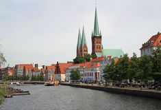 Luebeck skyline Royalty Free Stock Photo