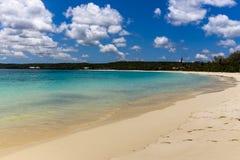 Luecila strand på Lifou, Nya Kaledonien Arkivfoto