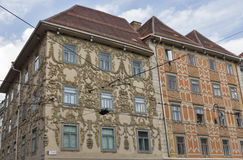 Luegg House in the Old City of Graz, Austria Stock Images