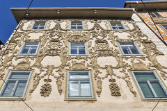 Luegg House in the Old City of Graz, Austria Stock Photography
