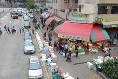 Luen Wo Hui in Fanling Hongkong Royalty-vrije Stock Foto