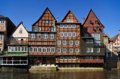 Lueneburg, Alemanha, o Stintmarkt imagens de stock royalty free