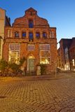 Lueneburg - Old house in the evening Royalty Free Stock Photo