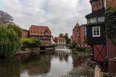 Lueneburg stary miasto i okres zatrudnienia schronienie obraz stock