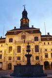 Lueneburg - Town hall in the evening Stock Photos