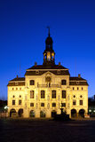 Lueneburg Town Hall at night Royalty Free Stock Image
