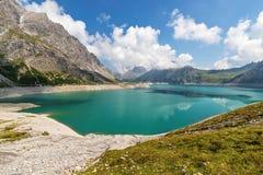 Luenersee w Raetikon górach, Brandnertal, Vorarlberg, Austria fotografia stock