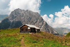 Luenersee w Raetikon górach, Brandnertal, Vorarlberg, Austria fotografia royalty free