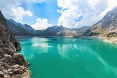 Luenersee w Raetikon górach, Brandnertal, Vorarlberg, Austria zdjęcie stock