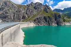 Luenersee w Raetikon górach, Brandnertal, Vorarlberg, Austria zdjęcia royalty free
