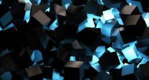 Lueur bleue de bloc de résumé illustration de vecteur