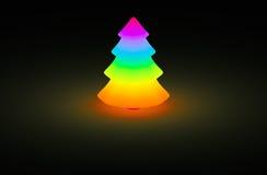 Lueur de couleur d'arc-en-ciel d'arbre de Noël Photographie stock