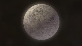 Lueur de la lune 3D Images libres de droits
