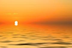 Lueur de lever de soleil Photos stock