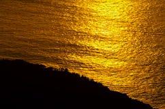 Lueur de lever de soleil d'océan Images libres de droits