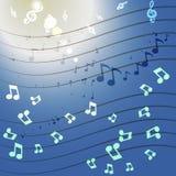 Lueur de musique Images stock