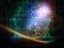 Lueur de particules Photographie stock libre de droits