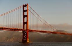 Lueur de pont en porte d'or Photographie stock