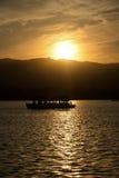 Lueur de scintillement de coucher du soleil du palais d'été Photographie stock
