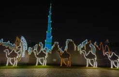 Lueur Dubaï, EAU de jardin photographie stock libre de droits