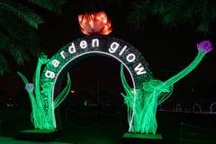 Lueur Dubaï, EAU de jardin Photographie stock