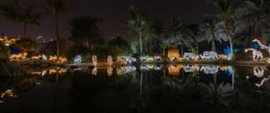 Lueur Dubaï, EAU de jardin Photos stock