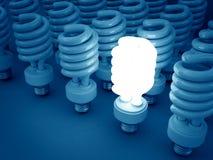 Lueur fluorescente d'ampoule Images stock