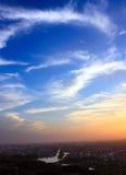 Lueur magnifique de coucher du soleil images libres de droits