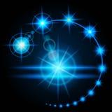 Lueur réaliste de fusée d'effet, l'éclat de la source lumineuse artificielle L'énergie de décharge électrique Vecteur illustration libre de droits