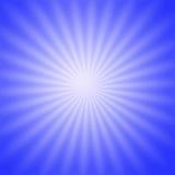 Lueur radiale bleue Photos stock