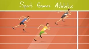 Läufer-Athleten-Running Sprint Track-Sport-Wettbewerb Lizenzfreies Stockbild