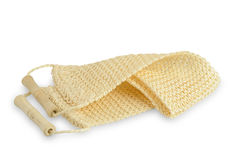 Luffa sponge with wooden handles Royalty Free Stock Photography
