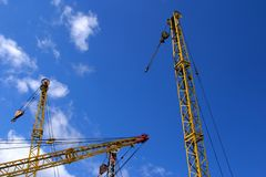 Luffing crane Royalty Free Stock Photos