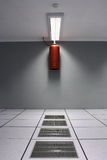 Luft abgekühltes Rechenzentrum und Feuerverhütung Lizenzfreie Stockbilder