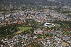 Luft-Adelaide-Stadt Lizenzfreies Stockbild