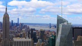 Luft-Antenne timelapse 4K UltraHD von Midtown Manhattan, New York stock video footage