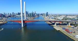 Luft-Bolte-Brücke, Melbourne stock video