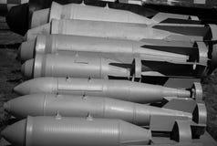 Luft bombarderar svartvitt Fotografering för Bildbyråer